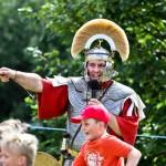 EN GARDE: Children enjoyed medieval re-enactments at Caerphilly Castle