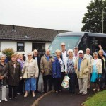 ALL ABOARD: The residents depart on their trip