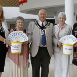 FUNDRAISERS: Mayor's Consort Alma Gardiner and Mayor Leon Gardiner with Ty Hafan and Macmillan representatives