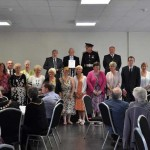 AWARDED: Members of the Aber Valley Heritage Group receive their Queen's Award for Voluntary Service
