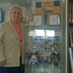 SERVICE: Former volunteer Dorothy Lewis at the exhibition in Caerphilly Library