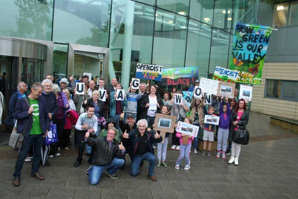 VICTORY: Campaigners celebrate the planning committee's decision