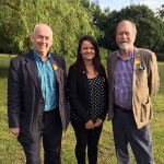 CANDIDATE: Lisa Jones with Wayne David MP (left) and Jeff Cuthbert AM