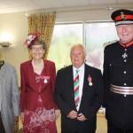 Mayor Cllr Leon Gardiner (left), Katherine Hughes, Donald Braithwaite and Sir Simon Boyle (right)