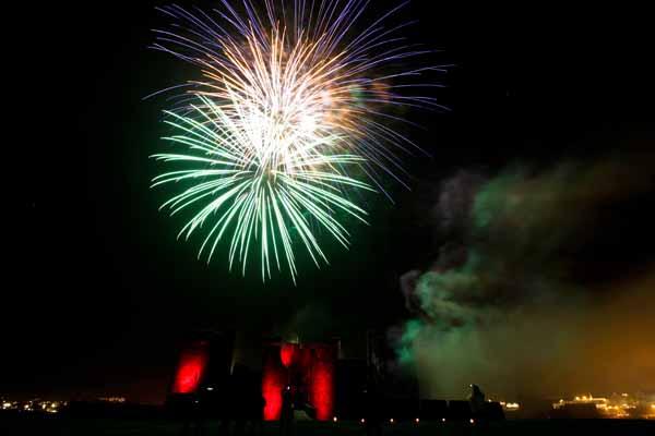 Fireworks Caerphilly Castle