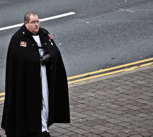 The Caerphilly service was led by Father Gareth Coombes. Pictures by Carl Jones