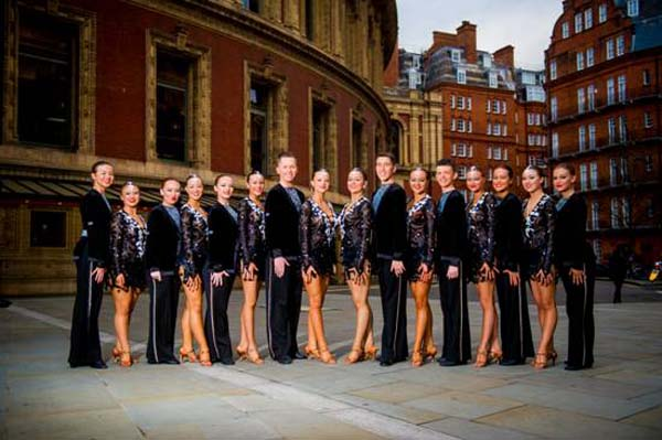THRILLER: The group from New Cottage Dance Centre outside the Royal Albert Hall in London