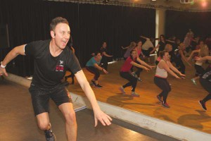 Strictly's Ian Waite demonstrates dance moves