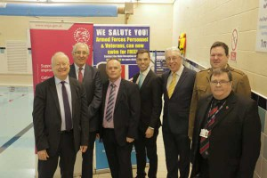 Public Services Minister, Leighton Andrews, Deputy Minister for Culture Sport and Tourism, Ken Skates and the Leader of Caerphilly County Borough Council Cllr. Keith Reynolds pictured alongside guests at the launch.