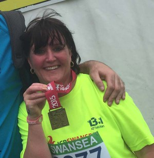 Anita Harper is running to raise money for the Wales Air Ambulance
