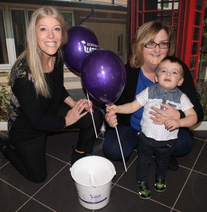 Left to right - Allie Price from LATCH, Gill Hopkins from United Welsh and her grandson Sam