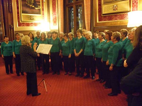 ALL TOGETHER NOW: The choir performing at Speaker's House