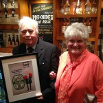 Don Braithwaite with wife Margaret and his personal beer