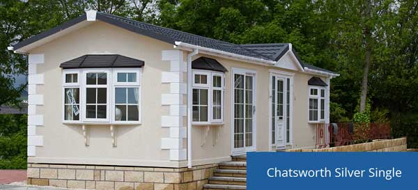 The Chatsworth Silver Single Park Home, which looks similar to this one, was stolen from Prince of Wales Industrial Estate, Abercarn.