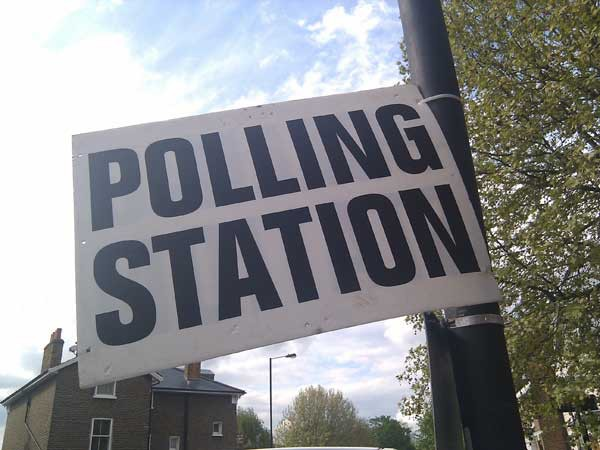 POLLING DAY: Voters go to the ballot box on Thursday, May 4