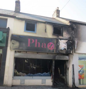 GUTTED: The Phaze shop in Cardiff Road, Caerphilly
