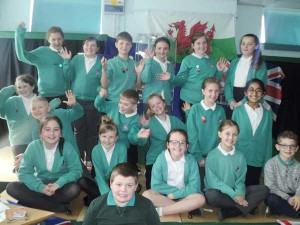 Year 5 and 6 pupils at Tyn y Wern Primary School