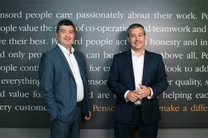 INVESTMENT: Pensord Press Managing Director Darren Coxon (right) and Operations Director Karl Gater