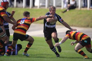 Deri Mattravers in action for Bedwas earlier this season
