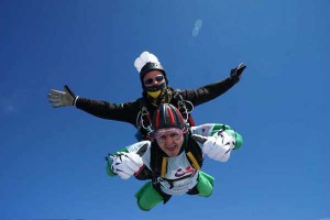 Ross Mason-Price took on the skydive to mark National Autism Awareness Month