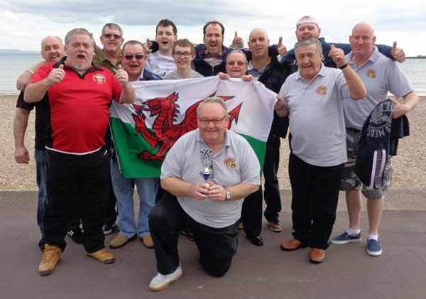 Back row (L-R): Andrew Raymond, Adrian Gale, Lloyd Packham, John Coles, Ray Bright, Craig Wickham, Simon Wickham. Front row (L-R): Phil Thomas, Steven Horne, Hywl Nightingale, Alfie Grainger, Jim Cartwright, (kneeling) Michael Davies, captain.