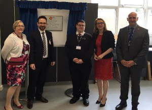 The new block was officially opened by Education Secretary Kirsty Williams AM (second right)