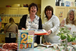 ANNIVERSARY: Jane Weeks, left, Operational Director in South Wales for Action for Children and Judith Kirkby, Children Services Manager for Caerphilly Children's Centre