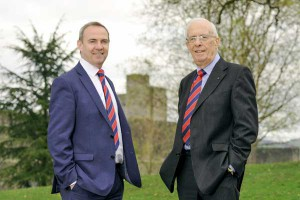 FAMILY-TIES: Thomas Carroll Group's new Chief Executive Rhys Thomas, left, with father and co-founder Evan Thomas