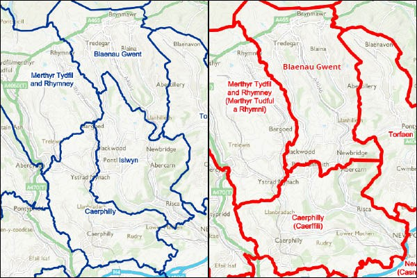 The proposed boundary changes for 2018