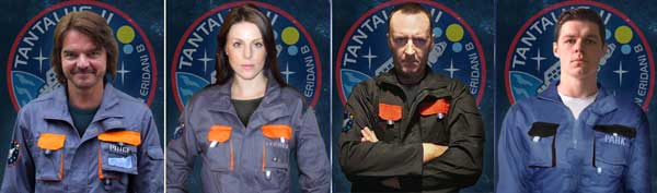 OFFWORLD: The cast of the sci-fi film, which has raised nearly £5,000 through its Kickstarter campaign