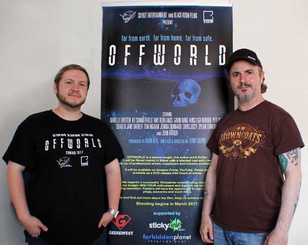 OFFWORLD: Producers Adam Neal, left, and Terry Cooper.