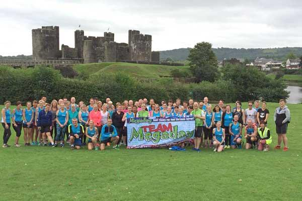 The runners started their 11-mile run at Caerphilly Castle