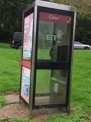 HUNG UP: This phone box on Van Terrace, Caerphilly,  had no calls made from it in the last 12 months