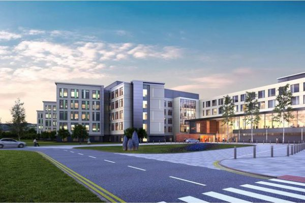 An artist's impression of the Specialist and Critical Care Centre to be built near Cwmbran