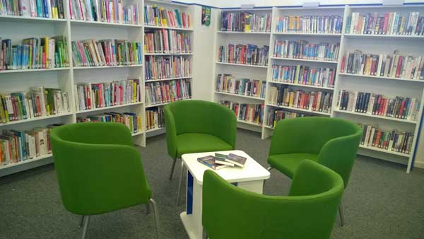 Ystrad Mynach library has benefitted from a £48,000 makeover
