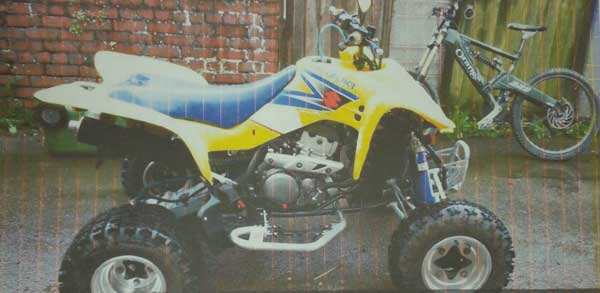 The quad bike stolen from Penpedairheol
