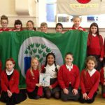 ENVIRONMENTAL: Pupils of Cwmfelinfach Primary School with their latest eco green flag