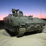 FIRED: An ARES mini-tank, part of General Dynamic's AJAX programme