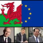 Caerphilly MP Wayne David (left), Islywn MP Chris Evans (centre) and Merthyr and Rhymney MP Gerald Jones (right)