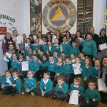 IT'S ALL GOOD: Pupils and staff from Tyn-y-Wern Primary School celebrate their Estyn report