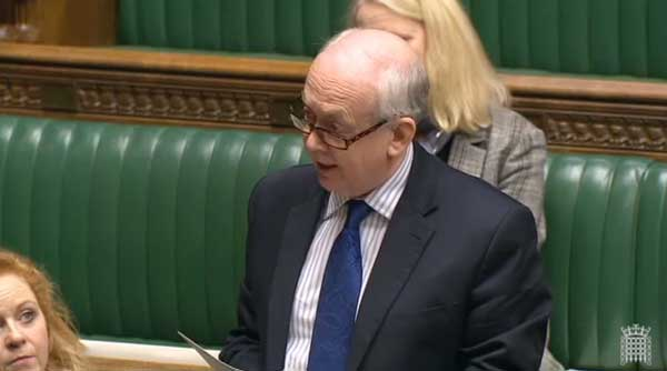 Caerphilly MP, Wayne David, speaks at the House of Commons