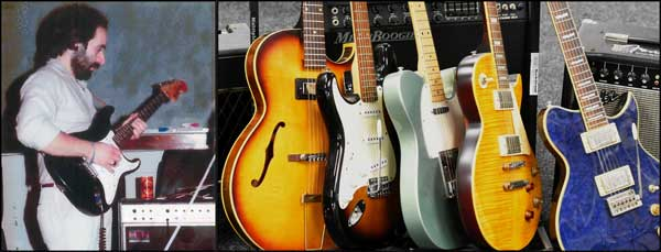 GOING ONCE: Remo Lusardi's guitar collection is set to go on auction in Cardiff. Photo by Roger Jones Auctioneers