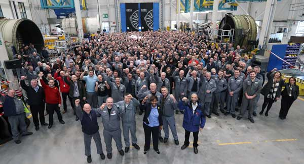 PRIDE: GE Aviation Wales' workforce was chosen for its technical expertise