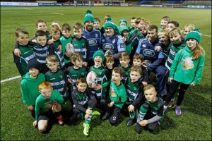 Caerphilly RFC's under-8s trained with regional side, Cardiff Blues