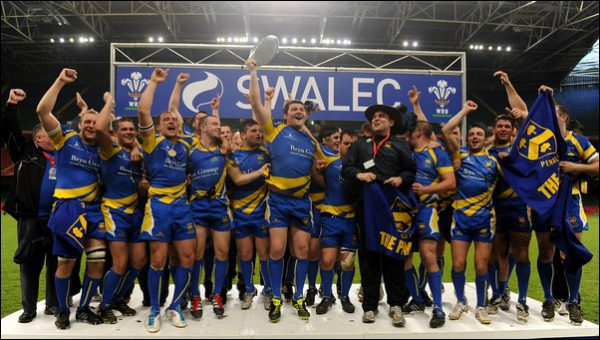 THAT WINNING FEELING: Penallta celebrate winning the Plate in 2012, and will hope for a repeat against Ystalyfera