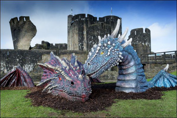 Visitors to Caerphilly Castle can meet the mythical Dewi and Dwynwen