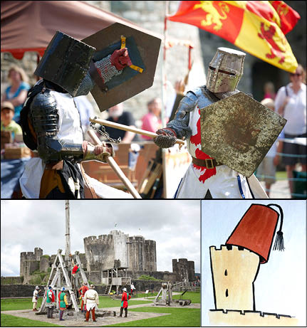 CHOICE: Caerphilly Castle will host medieval re-enactments, Easter egg hunts, and a special Feztival