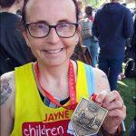 MARATHON: Jayne Jones, finished in 5:28 with Islwyn Runners