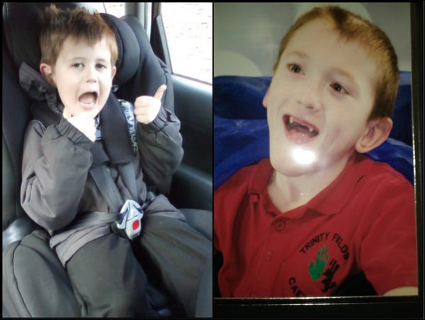 HELPED: Five-year-old Gavin (left), and Mason, eight (right)