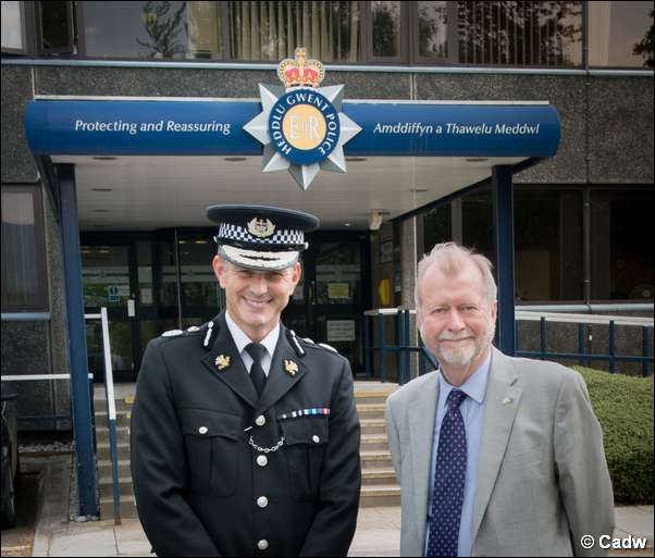 Gwent Police Chief Constable Jeff Farrar and Gwent PCC Jeff Cuthbert
